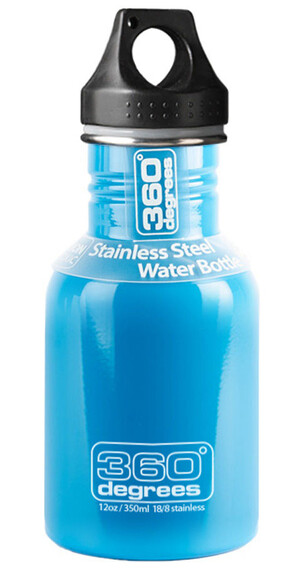 360° degrees Stainless Drinkfles 350ml blauw